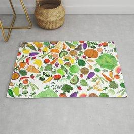 Fruit and Veg Pattern Rug