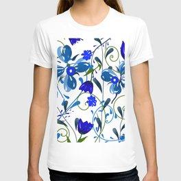 Floral pattern,illustration T-shirt