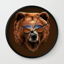 Bear Necessity Wall Clock