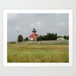 Historic East Point Light Art Print