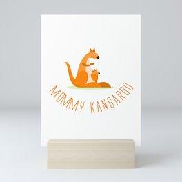 Mommy Kangaroo, Kangaroo Mom design Mini Art Print