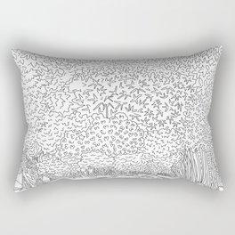 Banyan Tree Driveway - Line Art Rectangular Pillow
