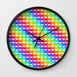 Rainbow Pokeballs Wall Clock