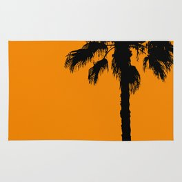 Palm trees on tangerine Rug