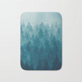 Misty Pine Forest Bath Mat