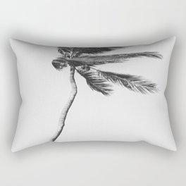 Grey Palm Tree Rectangular Pillow