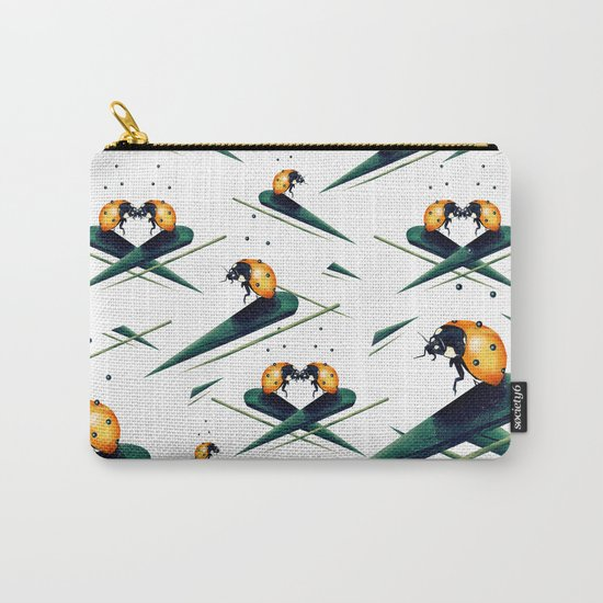 Bugs in Love (Pattern) Carry-All Pouch
