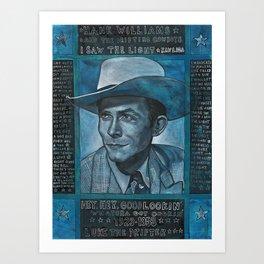 Singing the Blues Art Print