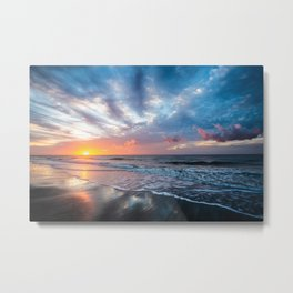 Daybreak at Hilton Head - Sunrise Along Beach at Hilton Head Island in South Carolina Metal Print