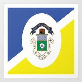 flag of winnipeg Art Print