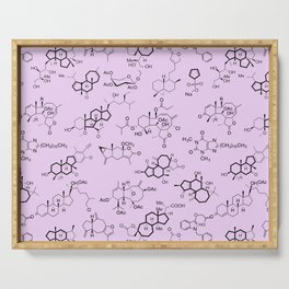 Molecules on Pink Serving Tray