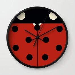 Whimsical Ladybug Beetle Wall Clock