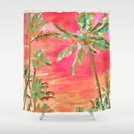 Vintage Hawaiian Beach, Mauna Lani Bay Shower Curtain
