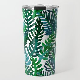 Round Palm Blue Green Travel Mug