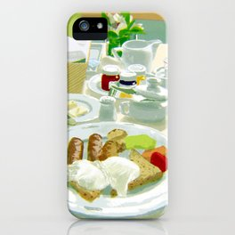 Breakfast at a Hotel iPhone Case