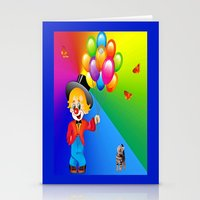 clown Stationery Cards featuring Clown by Art-Motiva