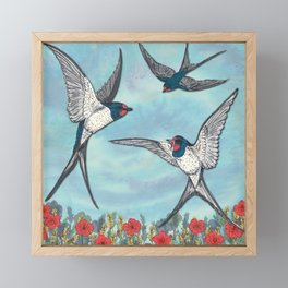 Summer Swallows Framed Mini Art Print