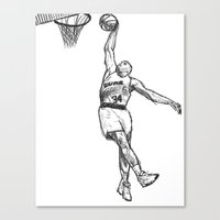 chuck Canvas Prints featuring Chuck by foodpyramids