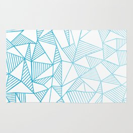 Abstraction Lines Watercolour Rug