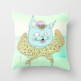 PIZZACAT I Throw Pillow