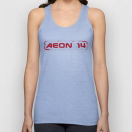 Aeon 14 Logo Only - RED Unisex Tank Top