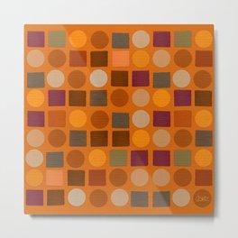 """""""Warm spots & squares (pattern)"""" Metal Print"""