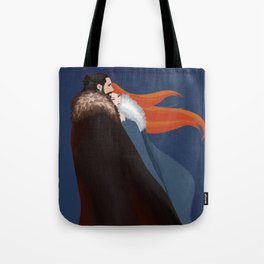 Facing the Night Together Tote Bag
