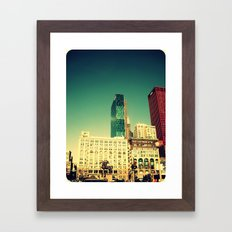 Chicago Retro Skyline ~ architecture Framed Art Print