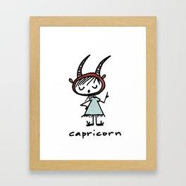 capricorn (aka: she who knows better than you) Framed Art Print