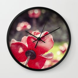 The red poppy Wall Clock