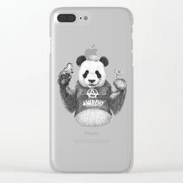 Punk Panda Clear iPhone Case