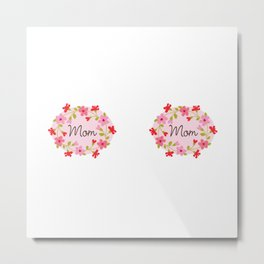 Mother's Day Pink Flowers Metal Print