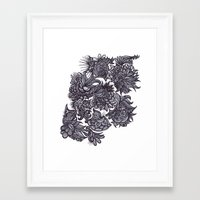 zentangle Framed Art Prints featuring Zentangle; by Shivani C
