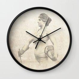 Vintage Woman Portrait - Early 1900's Jouist Female - Antique Woman Print Sepia Wall Clock