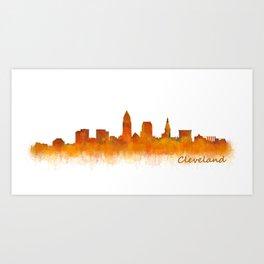 Cleveland City Skyline Hq V2 Art Print
