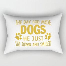 GOD MADE DOGS Rectangular Pillow