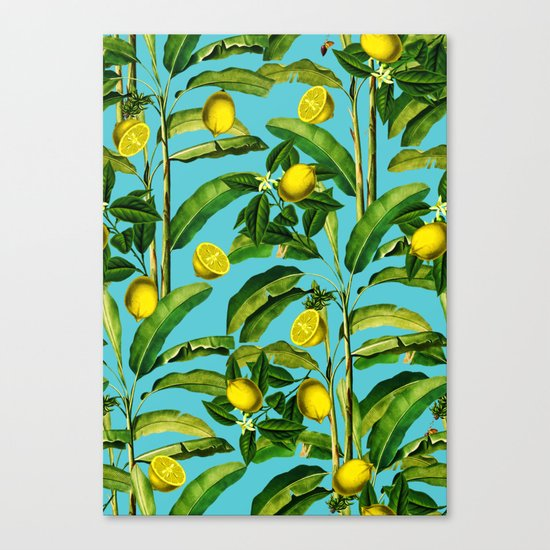 Lemon and Leaf II Canvas Print
