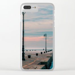 Windy day in the city of Trieste Clear iPhone Case