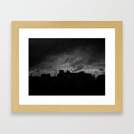 Rainy Day in Brussels Framed Art Print
