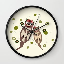 Loutres Wall Clock