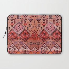 N52 - Pink & Orange Antique Oriental Traditional Moroccan Style Artwork Laptop Sleeve