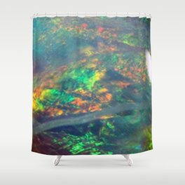 Fire Opal Shower Curtain