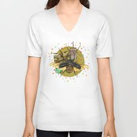 insect V-neck T-shirts featuring Insect Universe by dogooder