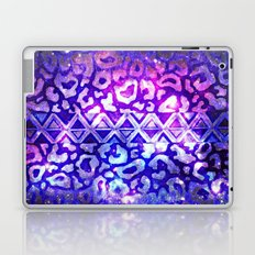 TRIBAL LEOPARD GALAXY Animal Print Aztec Native Pattern Geometric Purple Blue Ombre Space Galactic Laptop & iPad Skin