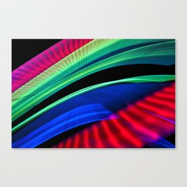 Colorful bands of light Canvas Print