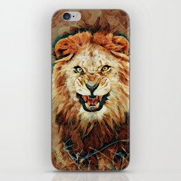 Angry Lion Mosaic iPhone Skin