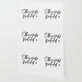 Obsessively Grateful white-black Wallpaper
