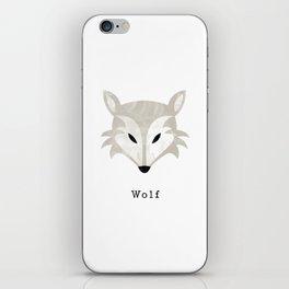 Woodland Wolf iPhone Skin