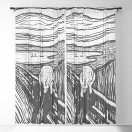 THE SCREAM - EDVARD MUNCH - LITHOGRAPH Sheer Curtain