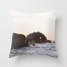 Sutro Baths at sunset Throw Pillow